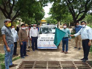 बनेड़ा-जागरूकता अभियान के तहत वाहन रैली का हुआ आयोजन