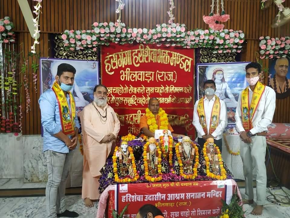 एबीवीपी ने किया स्वामी योगेश्वरानंद उदासीन महाराज का स्वगात